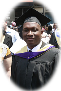 EducateLiberia.org's Assistant Director, Bayan Gbonoi, graduates with a Bachelor Degree in Forensic Science